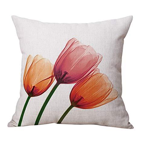 BBestseller Almohada Estampada Lino Floral Fundas de cojín Decorativas para sofá Cojines...