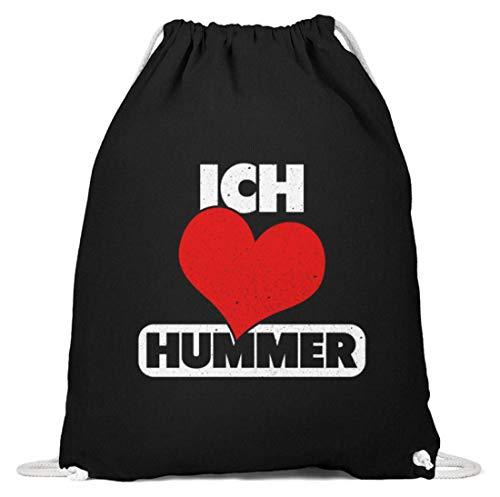 Chorchester Ich Liebe Hummer Tier Und Essen Fans - Baumwoll Gymsac -37cm-46cm-Schwarz