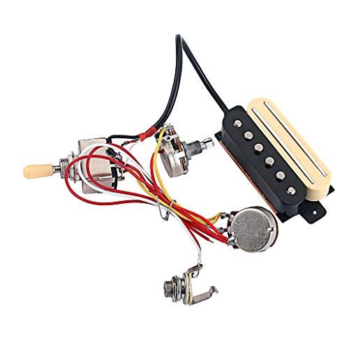 FLAMEER Gitarre Dual Rail + Single Coil Pickup Humbucker mit Pickup Wahlschalter & Potentiometer (Box Rail-track)
