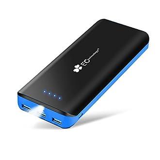 EC TECHNOLOGY Batterie Externe 22400mAh Power Bank Chargeur Portable de Secours 3 Ports USB Chargeur Externe Compatible avec iPhone, iPad, Samsung Galaxy, Nexus et d'autres Android