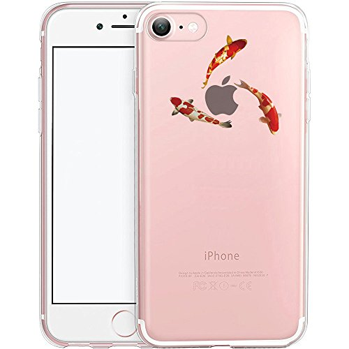 Coque iPhone 7, TrendyBox Transparent PC Hard Cover avec soft TPU Pare-chocs pour iPhone 7 avec verre trempe film de protection (Mini fleurs) 119