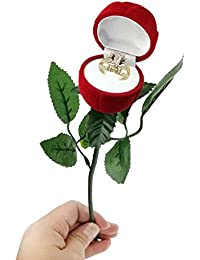 The Store King Red Rose Ring Jewellery Box For Valentine Day Proposal- Red