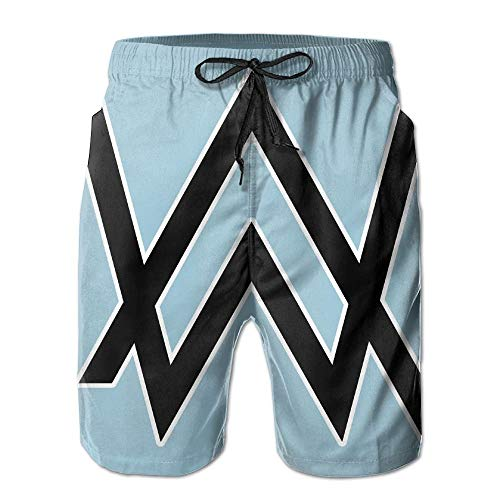 361d9203da sexy world Mary J. Johnson Alan Walker Logo Swim Trunks Quick Dry Beach Shorts  Board
