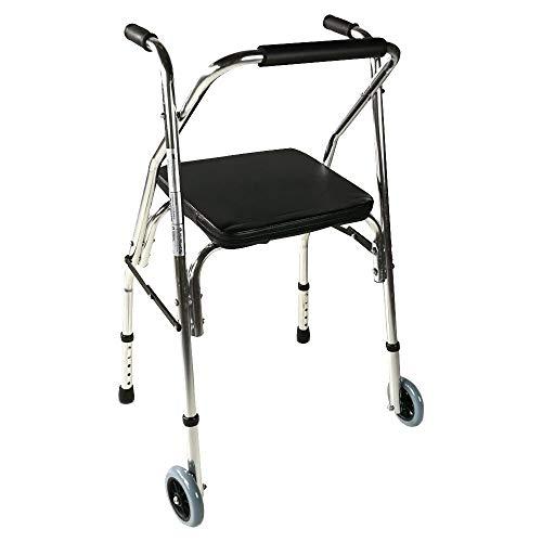 Mobiclinic Compostela Andador Ancianos con Dos Ruedas Plegable, con asiento, Aluminio, para...