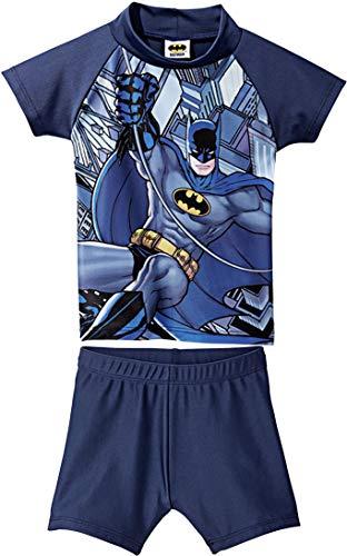 Golden Lutz® Kinder Jungen UV-Schutz-Anzug für Wasser und Strand, Zweiteilig (Batman, Gr. 98/104)