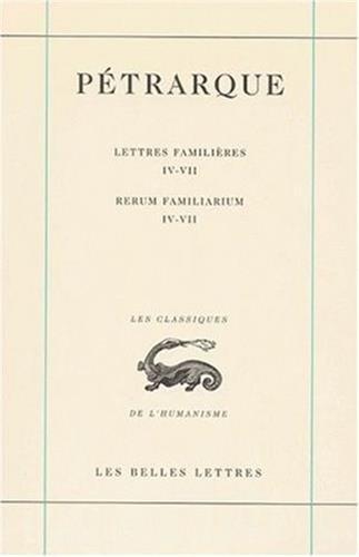 Lettres familières, tome II, Livres IV-VII