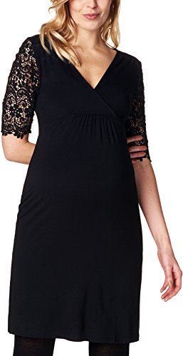 ESPRIT Maternity Damen Umstandskleid Dress, Schwarz (Black 001), 38 (Herstellergröße: M)