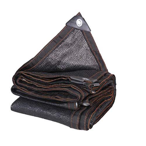 AOHMG Schattiergewebe 80% schattiernetz gegurtet Rand mit Tüllen Sonnensegel Schattentuch, für Pool Pergola Kennel,Black_10x10m/30x30ft