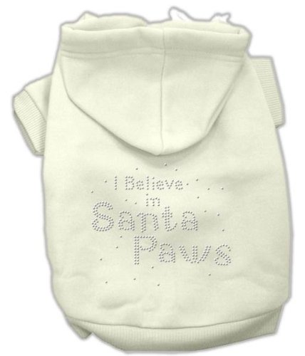 Mirage Pet Products I Believe In Santa Paws Hoodie _ P (Santa Hoodie Paws)