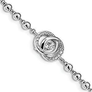 11 mm Sterling Silber Platinierte Kristall Vibrant CZ mit 5,1 cm EXT. Armband – 15 cm