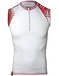 Compressport - Camiseta de compresión para hombre, color blanco, talla XL