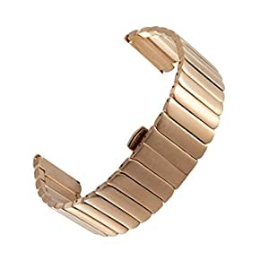 Yishun? Stainless Steel Watch Band Bracelet Deluxe Metal Watchband Strap Specially Designed for Motorola Moto 360 2nd Gen 46mm Smartwatch (Metal Gold)