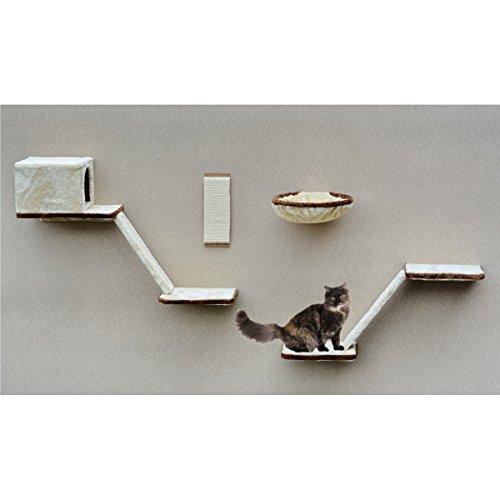 SILVIO DESIGN, Katzen-Kletterwand 8-teilig beige, 21908.000