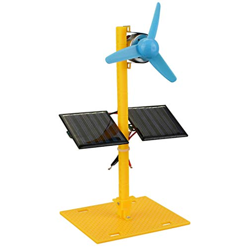 Luccase Solar Fan Spielzeug Stromerzeuger Gleichstrom Motor Kunststoff Propeller Kinderspielzeug Kit Mini Fan DIY Wissenschaft Bildung Modell Kit für Jungen und Mädchen