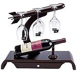 Minmin-jiuja Verbesserte Version des hölzernen Weinregals kreativer Weinregal-Wein-Massivholz-Ausstellungsstand Umgedrehtes Weinglas-Rack-Weinkabinett-Dekoration