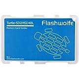 Flashwoife Tortue SD2MSD4BL cas de carte mémoire pour SD 2x et 4x MicroSD de stockage de la carte mémoire au format carte de crédit - transparent et bleu