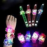 ToyToon Cartoon Characters LED Light Bracelets/ Wrist Band /Fancy Watch Birthday Return Gifts For Kids (Kids Bracelet Pack Of -12)
