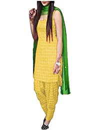 Women's Cotton Silk Salwar Suit Unstitched Dress Material (EC_SalwarSuit_Patiyala_Unstitched) - B074XZQM8C