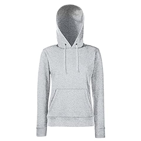Fruit of the Loom - Lady-Fit Hooded Sweat S,Heather Grey