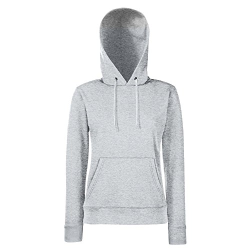 Fruit of the Loom - Lady-Fit Hooded Sweat XS,Heather Grey (Hooded Sweat Grey)