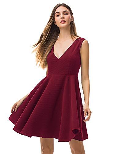 MessBebe Vestido Rojo Mujer Vestido Rockabilly Mujer Vestidos...