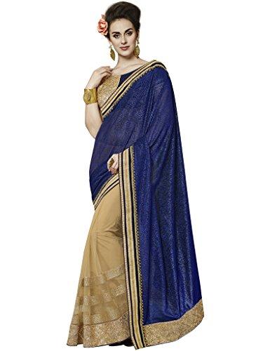 Jay Sarees Faux Georgette Saree With Blouse Piece (Jcsari3004-10417_Blue_Free Size)