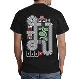 Witziges Geschenk für jeden Papa - Straße auf Rücken als Kinder Spiel T-Shirt Large Schwarz