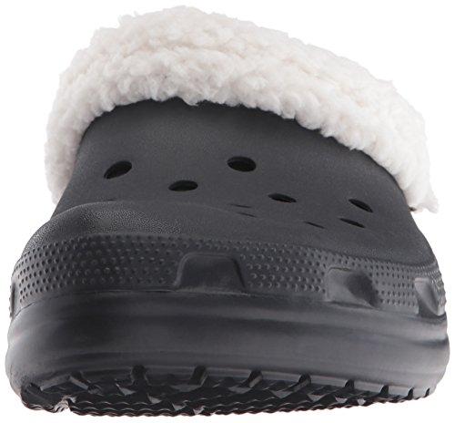 Crocs Classic Mammoth Lined Clog, Sabots Mixte Adulte Noir (Black/Oatmeal)