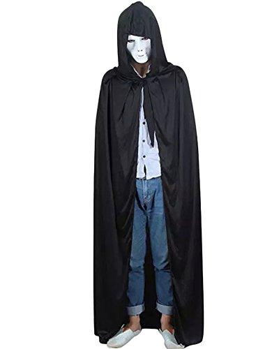 nge Cape Vampir Kostüm Halloween Erwachsener Schwarz (Cape Für Halloween)