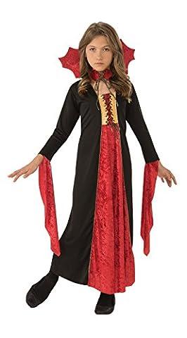 Mädchen Kleid Gothic Vampir Halloween Fasching Karneval Gr.M 5-7 Jahre