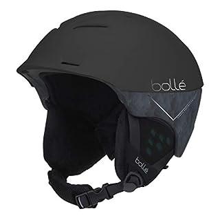 Bollé Erwachsene Synergy Skihelme, schwarz und blau, 54-58cm