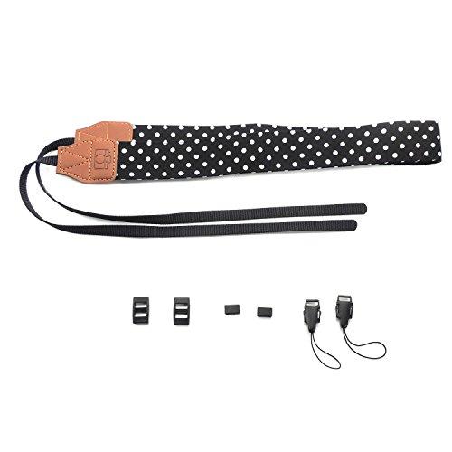 Lemmikki Verstellbarer Niedlicher Dot Kamera Neck Strap für DSLR Kamera (schwarz) - Kamera Neck Strap Sony