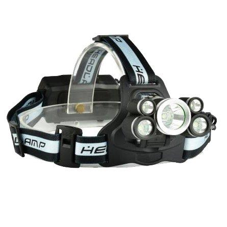 Kenthia télescopique 1700lm Zoom 18650 USB rechargeable 5 modes lampe frontale avec SOS aider Sifflet Blanc