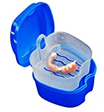 TAOtTAO Denture Bath Box Case Dental False Teeth Storage Box with Hanging Net Container