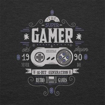 Texlab–The Super Gamer–sacchetto di stoffa Nero