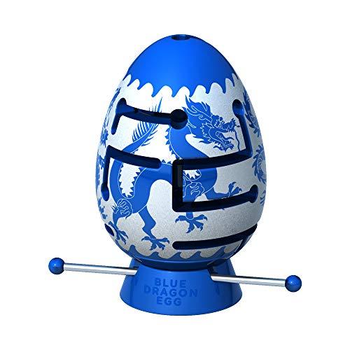 Smart Egg Blue Dragon: 3D Labyrinth, herausforderndes Brainteaser für Puzzle-Liebhaber (Niveau 1 von 3, ab 8 Jahren) - Herausforderung und Spaß beim Lösen des Labyrinths im Ei -
