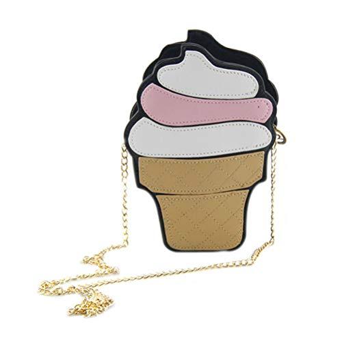 ASOSMOS Cartoon süße Sommer-Eiscreme-Torte eine Schulter über die Kette kleine Tasche Tasche Mode weiblichen Tasche geneigt