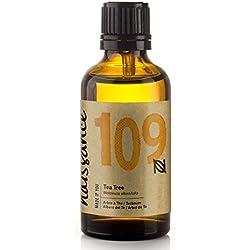 Naissance ätherisches Öl – Teebaum 50ml – rein, natürlich, tierversuchsfrei, vegan, unverdünnt – zur Anwendung in Aromatherapie, Massagemischungen & Duftlampen – vitalisierendes & belebendes Aroma