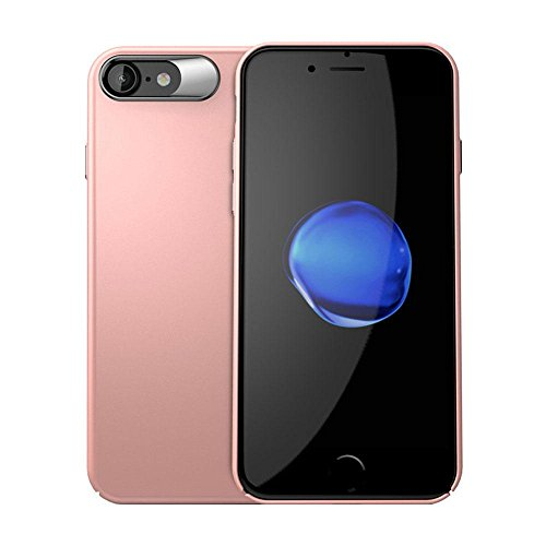 Kobwa Anti-Fingerprints Case Ultra Thin für IPhone 7/7 Plus, Shock Absorbing Kratzer-Resistant Stoßdämpfer Slim Fit Cover mit Beschichteter Oberfläche Voller Schutz Sturdy PC Case für IPhone 7/7 Plus iPhone7 Rose Gold