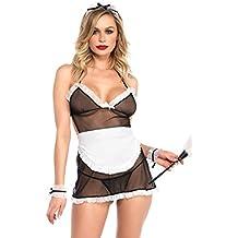 Leg Avenue 8703622007 - Ropa interior para mujeres (traje criada), color negro/