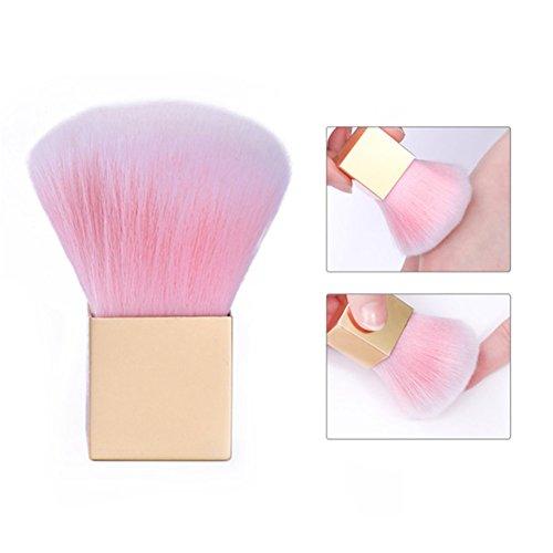 BONNIESTORE 1 Stück Acryl UV Gel Powder Remover Pinsel Gradienten Weichen Staub Reinigungsbürste Maniküre Nagelpflege Werkzeug (Weiche Acryl-pinsel)