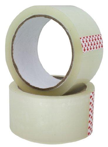 timtina® 6 Rollen Paketband Klebeband transparent Packband (6 Rollen, Transparent)