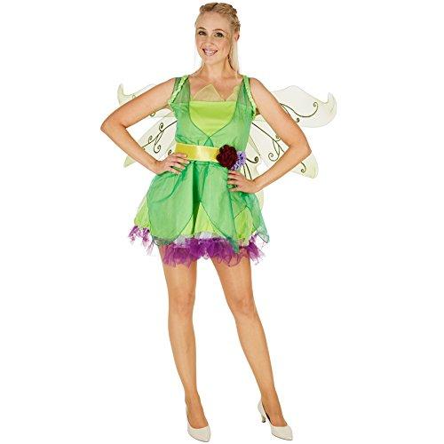 Kind Kostüm Frühlingsfee - TecTake dressforfun Frauenkostüm Blumenfee | Verführerisches Kleid | Das Kurze Kleid betont die Beine | Inkl. wunderschönem Bindegürtel mit Blumendeko (S | Nr. 301140)