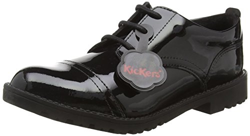 Kickers Lachly Lace Juniors, Scarpe Derby da Ragazza', Nero (Black), 34