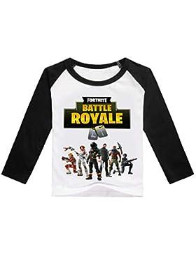 CTOOO 2018 Fortnite Impresión Camiseta De Algodón con Mangas Largas para Niños