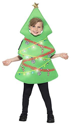 Smiffys 21790ML - Kinder Unisex Weihnachtsbaum Kostüm, Alter: 7-12 Jahre, One Size, (Weihnachtsbaum Kostüm Kind)
