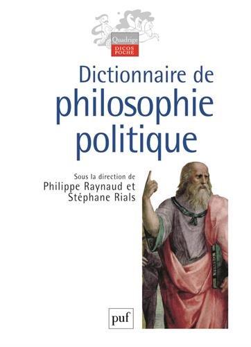 Dictionnaire de philosophie politique par Collectif