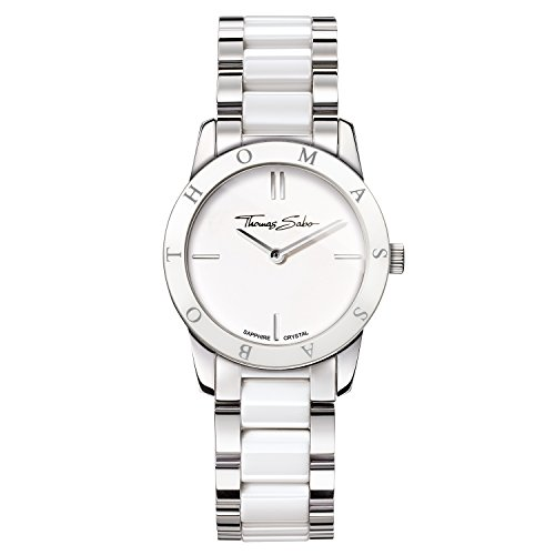 Thomas Sabo Damen-Armbanduhr Soul Silber Weiß Analog Quarz