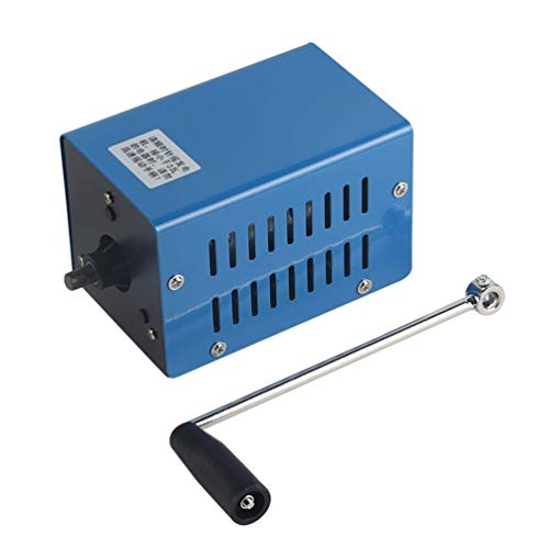 Wenwenzui 20W Portable Outdoor Multifunction Manual Crank Generator for Emergency Blue (Small Generator Portable)