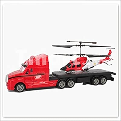 Rc Helicopter & Rc Truck Coast Guard Air Sea Rescue Remote Control Truck & Helicopter P703A